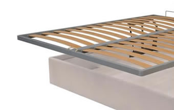 Orthopaedic beech multiply base opening on vertical storage unit with bed make-up mechanism